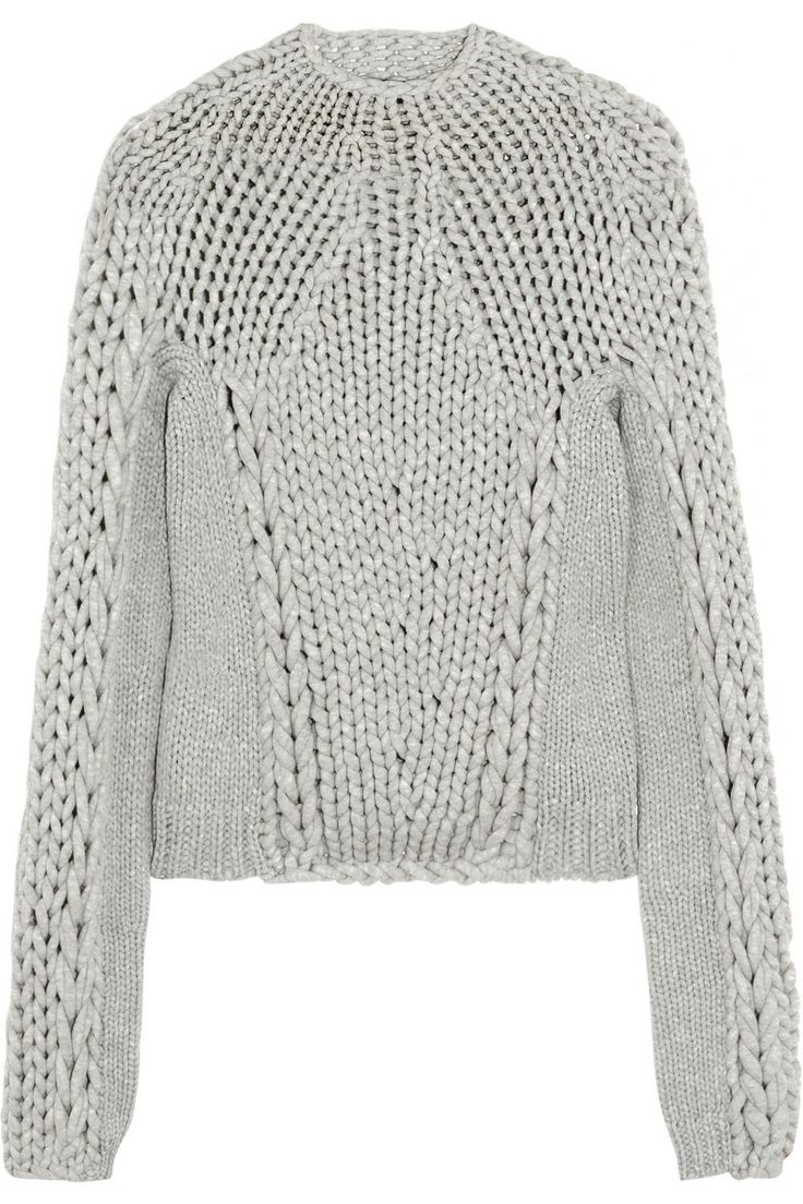 alexander wang, knitted jumper, chunky knit jumper
