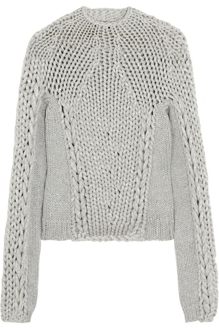alexander wang, knitted jumper, chunky knit jumper