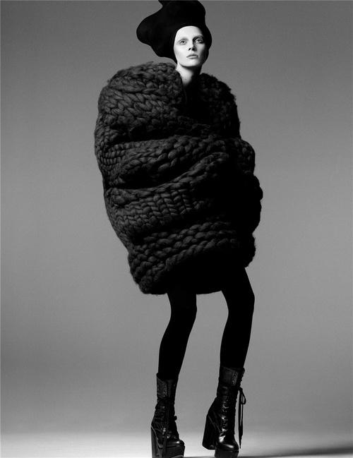 black, fashion, chunky knit, designer, chunky knit jumper