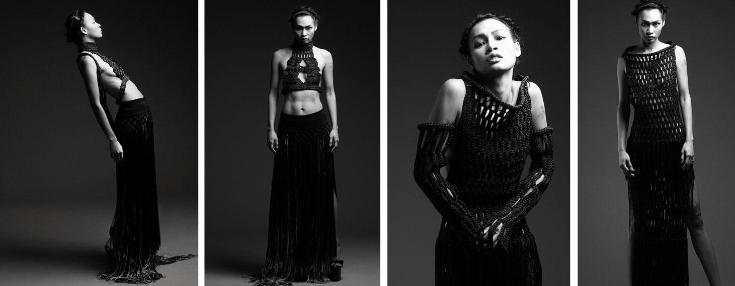 eleanor amoroso knitted vest, knitting, fashion designer