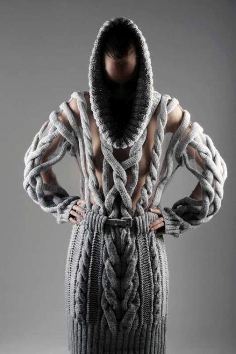 irina shaposhnikova, knitted dress