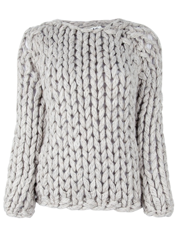 maison martin margiela, chunky knit jumper, knitted jumper, fashion designer, chunky, cable, mmm, mm6