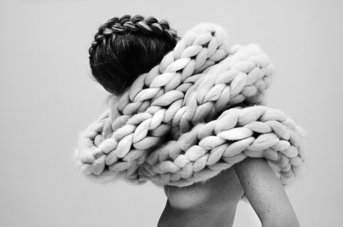 Knitting In Art : Modern chunky knit jumper in fashion a living diary