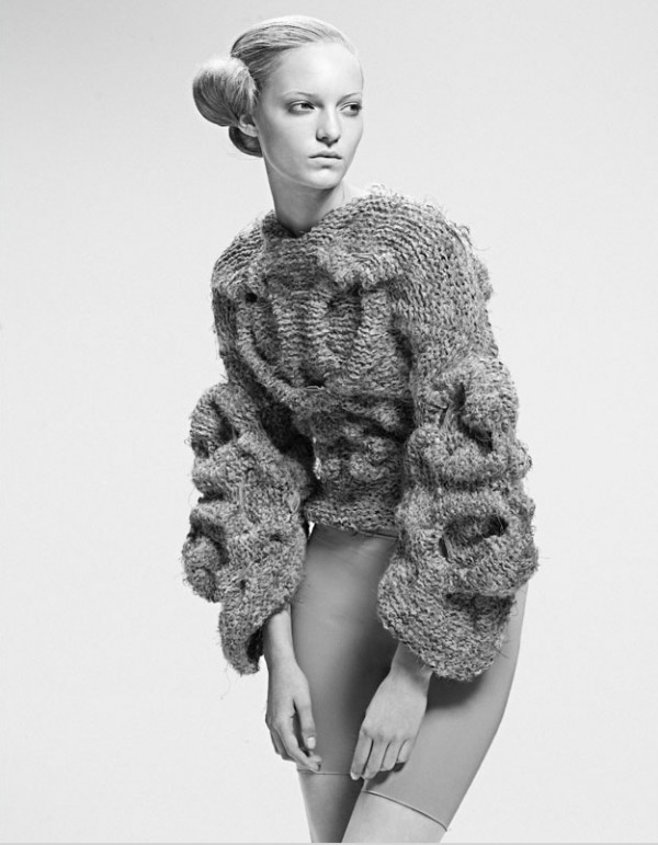 sandra backlund, knitted jumper, fashion designer chunky knit jumper