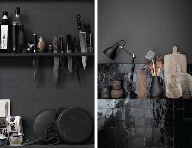 Black Kitchen Accessories Inspiration | A Living Diary
