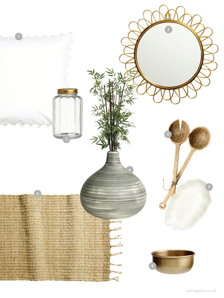 Natural Textures Inspiration Moodboard with H&M | A Living Diary