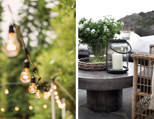 Creating a Cosy Garden  - Festoon Lights & Lanterns | A Living Diary