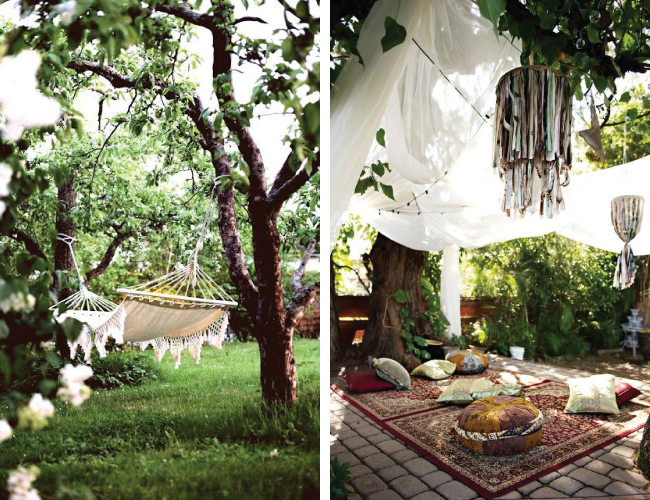 Creating a Cosy Garden  - Hammock, Blankets, Cushions & Pouffes | A Living Diary