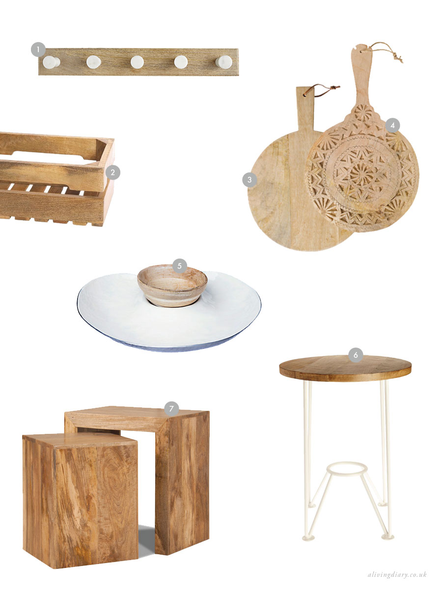 Mango wood, the sustainable option - Moodboard | A Living Diary